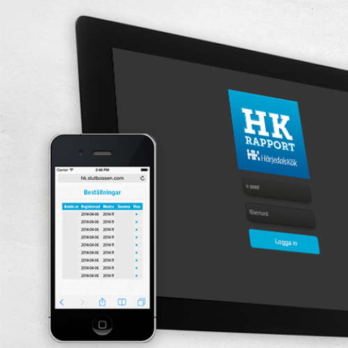 HK Rapport - business sales app for Härjedalskök