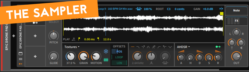 How to create cinematic sounds - The sampler of Bitwig 2.4