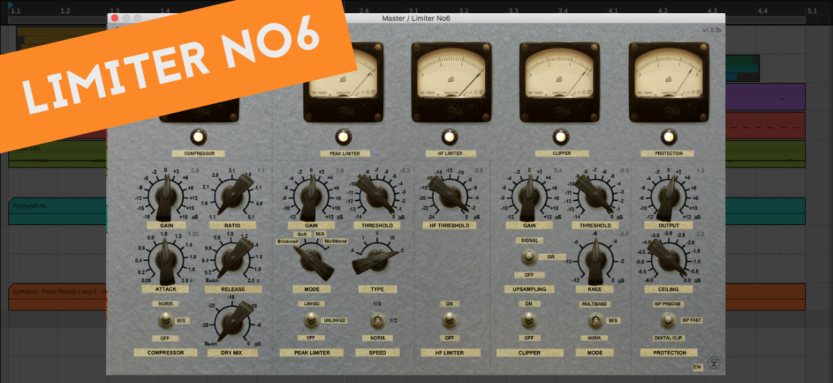 Limiter No 6 - mixing and mastering plugin