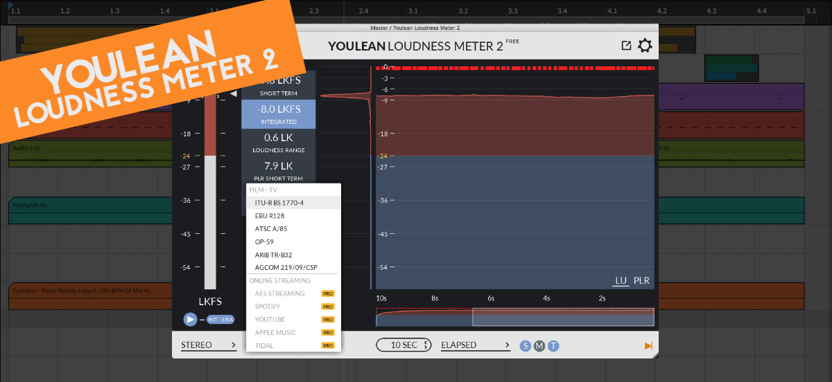 How to master audio for Spotify - YouLean Loudness Meter 2