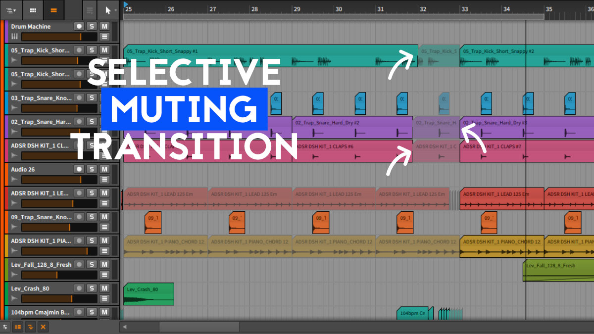 Transition Techniques in music production - Selective Muting