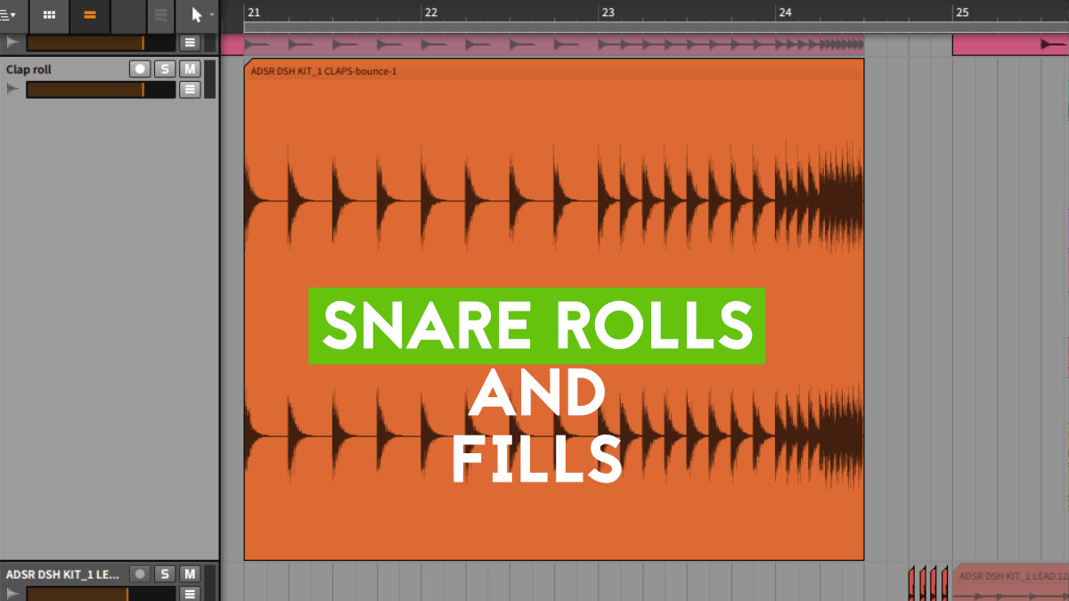 Transition Techniques in music production - Snare Rolls and Fills