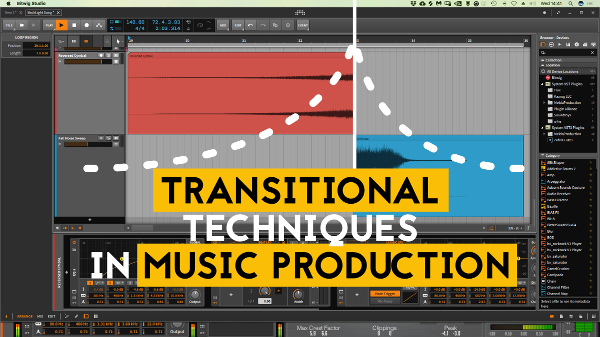 Transitional techniques in music production
