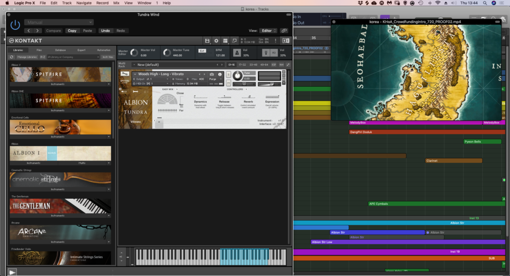 Kickstarter Background Music - Albion Tundra Kontakt sampler instrument