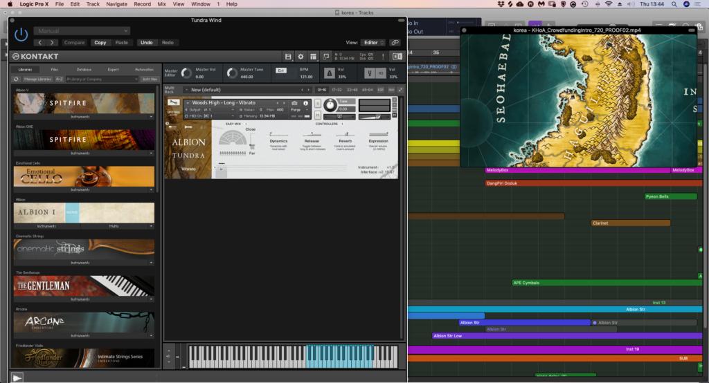 Kickstarter Background Music - Albion Tundra Kontakt sampler instrument