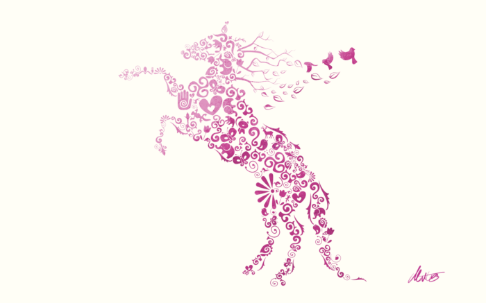 Horse Wall Poster Vector Work