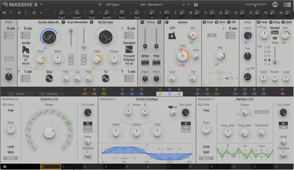 User interface design of Massive X