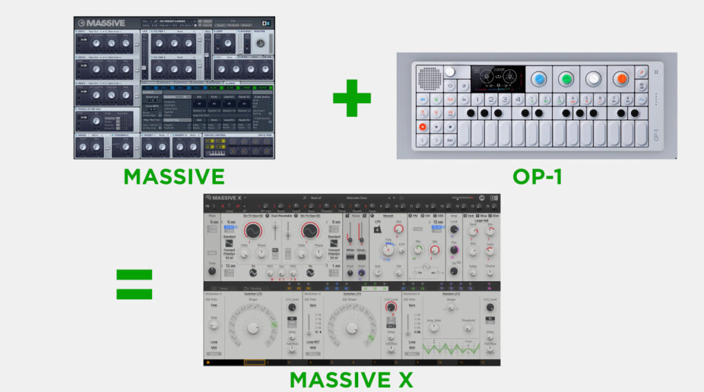 native instruments designed massive like a mixture of op-1 and vanilla massive