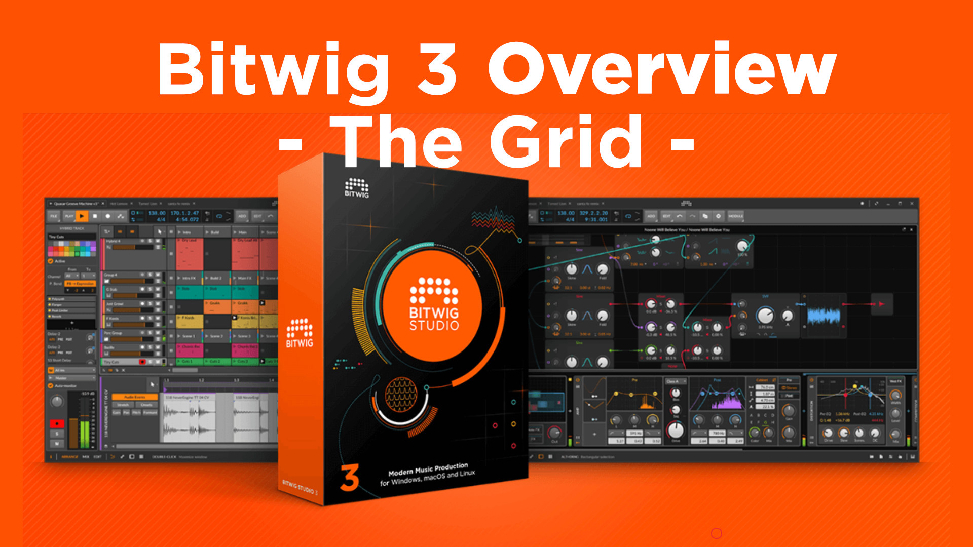 Bitwig 3 overview the grid