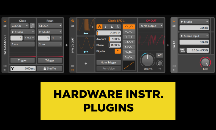 bitwig hardware instrument plugins
