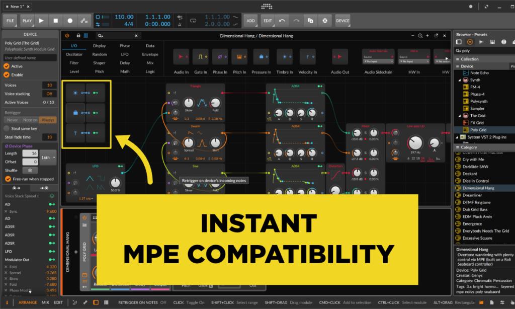 mpe compatibility in Bitwig Studio
