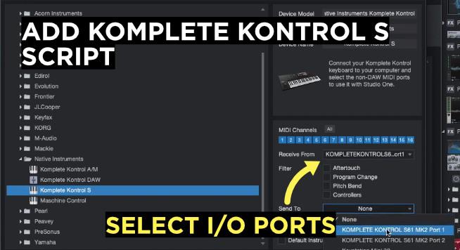add komplete kontrol s script in studio one