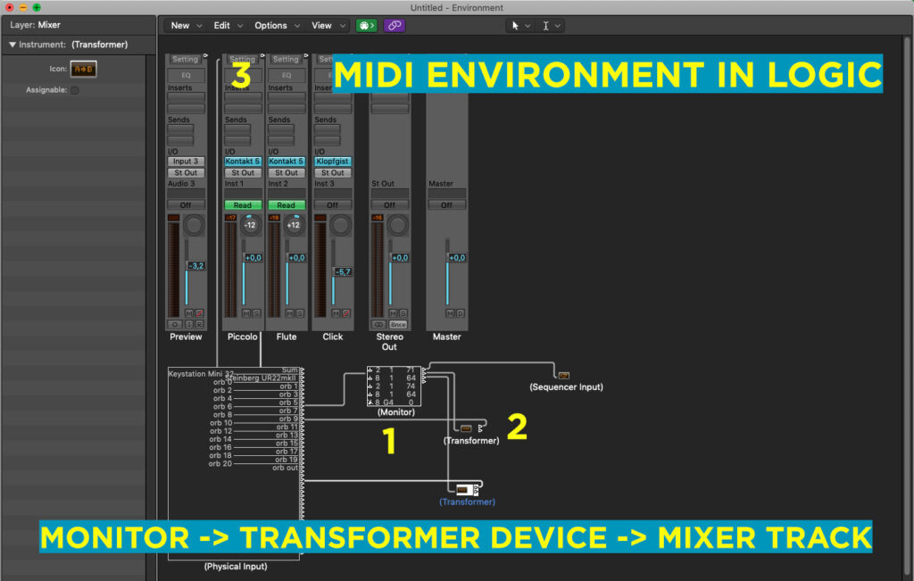 Transformer Device - Midi Environment In Logic Pro X