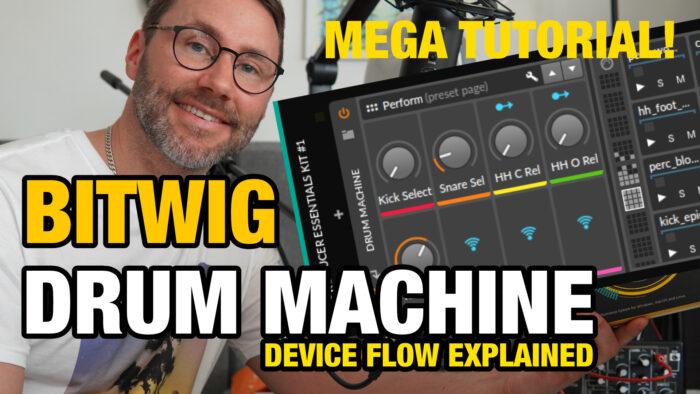 Bitwig Drum Machine tutorial