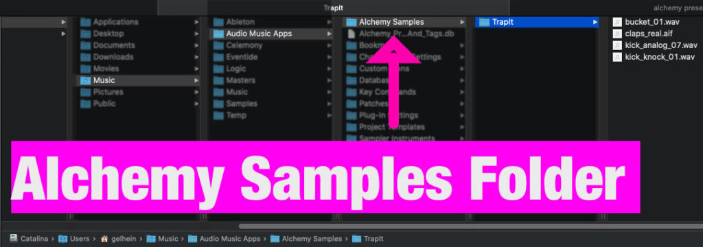 How to install Alchemy samples - folder structure