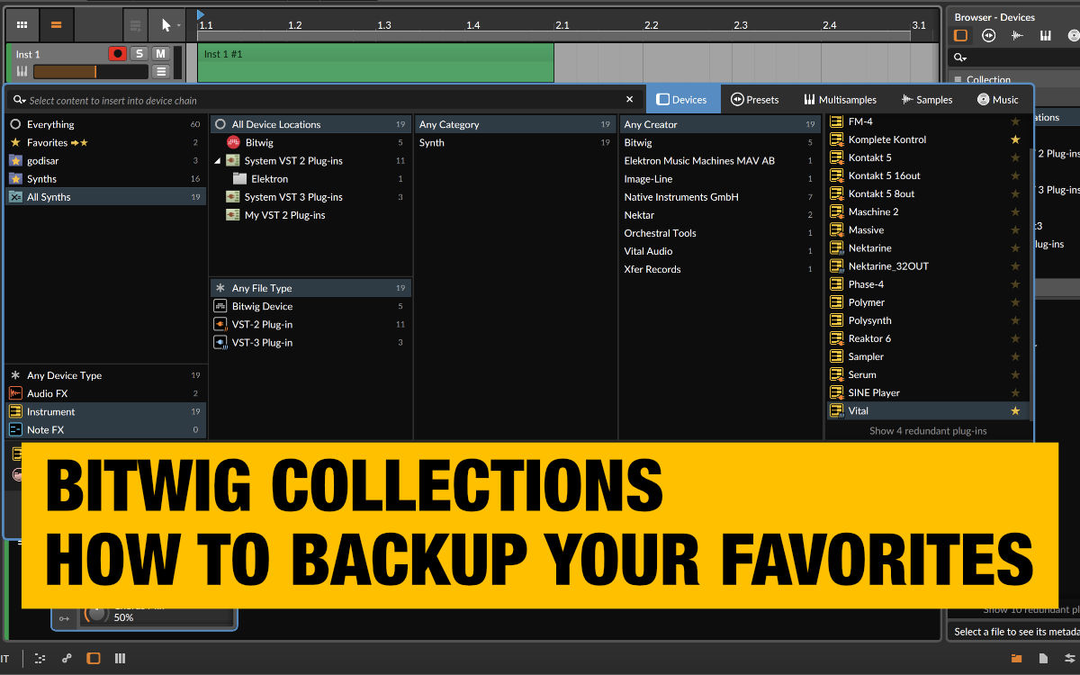 bitwig-collections-and-smart-collections